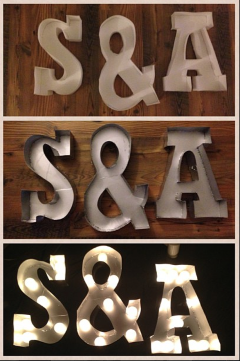 diy marquee letters diy wedding letter marquee 21387 | LIGHT MARQUEE